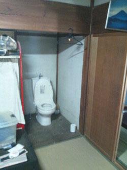 和室のすみに、トイレを・・・・・!